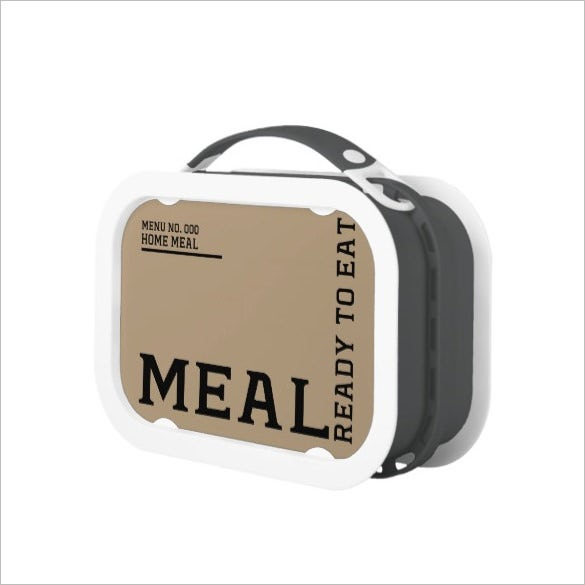 ready to eat lunch meal box template