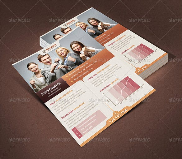 realistic flyer mockup template