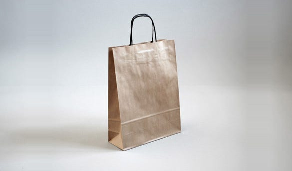 realistic paper bag mockup template psd photoshop