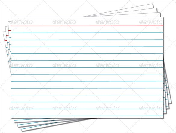 Index Card Template – 6+ Free Printable Word, PDF, PSD, EPS Format ...