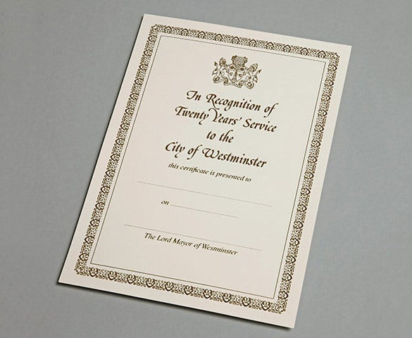 Recognition Of Service Award Ceremony Invitation Template
