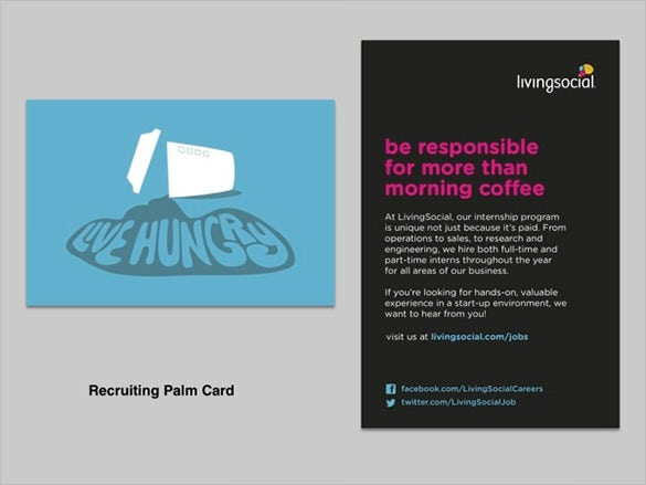 recruiting palm card template free download