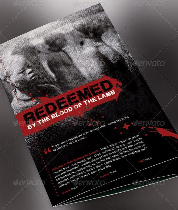 Redeemed Church Bulletin Cover Template