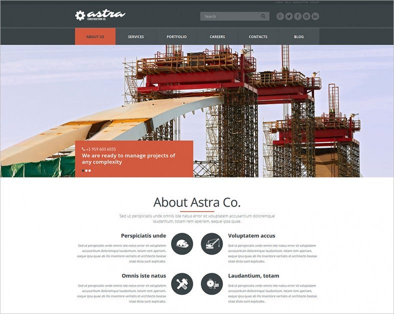 Reliable Building Company Joomla Template