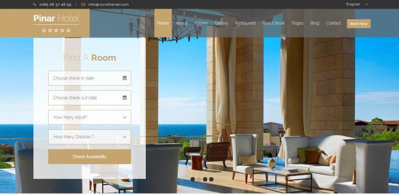Responsive Booking WordPress Template