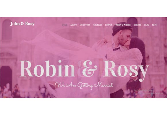 responsive bootstrap wedding template