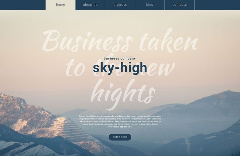 Responsive Business Company WordPress Theme