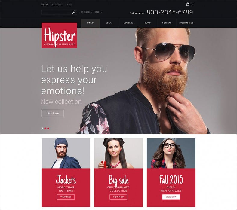 Responsive Cloth Store PrestaShop Theme