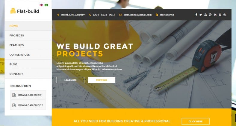 Responsive Construction Business Joomla Template