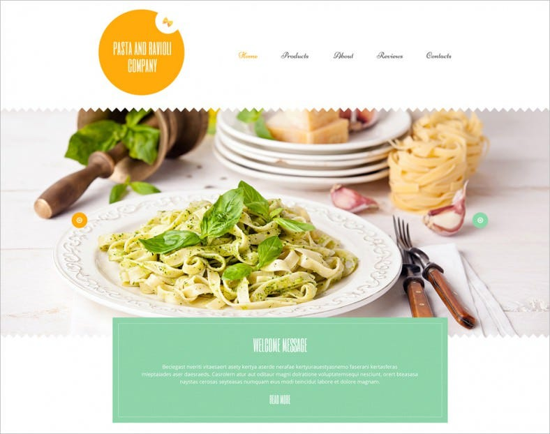 Responsive Food & Beverages WordPress Template