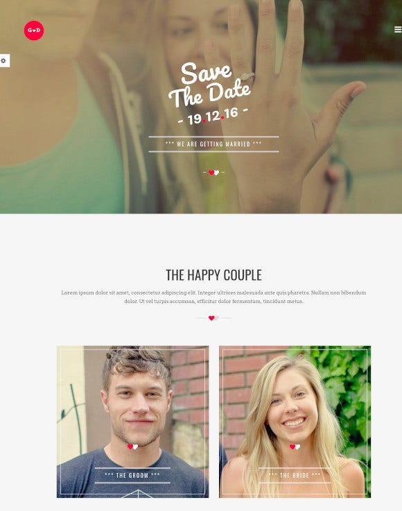 responsive html wedding template