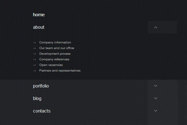 responsive html5 css3 dropdown menu