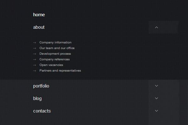responsive html5 css3 dropdown menu