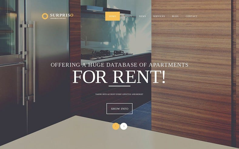 Responsive Joomla Template for Apartment Ren