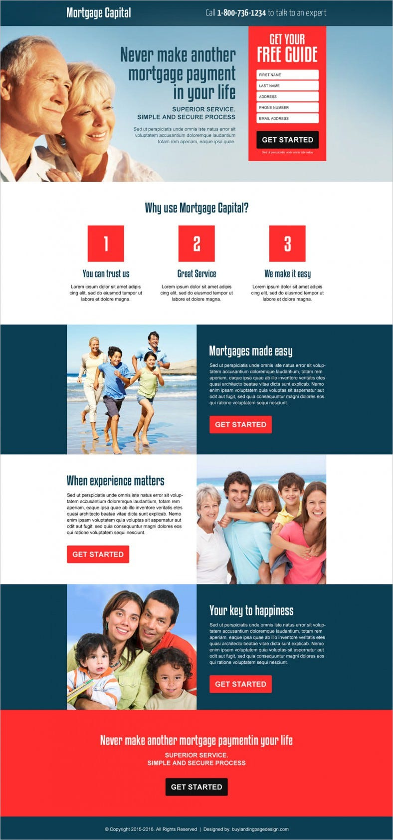 Responsive Mortgage Capital Landing Page Template