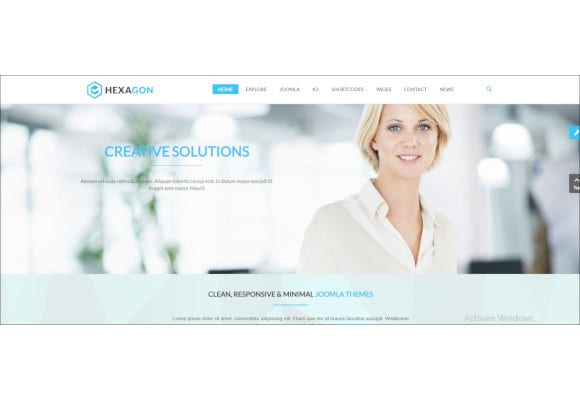 responsive multipurpose business joomla template