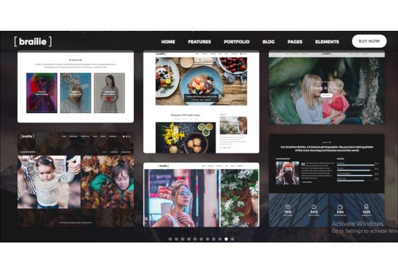responsive photography wordpress website theme