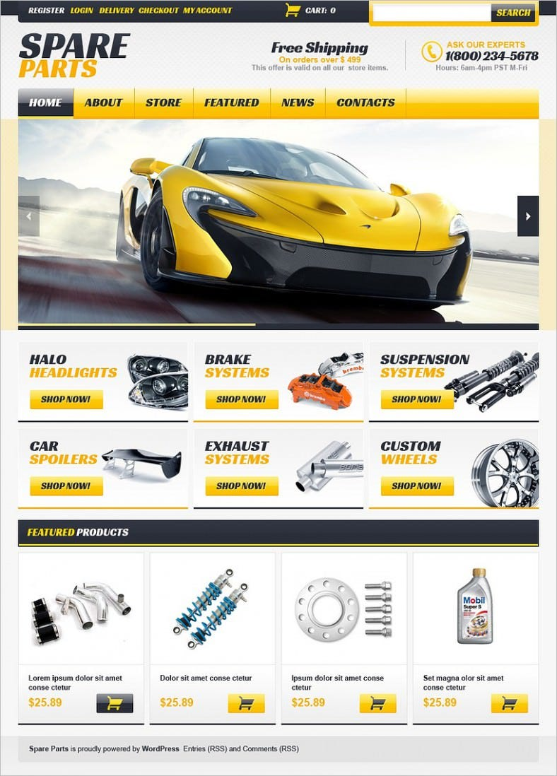 Auto Parts Jigoshop Themes & Templates | Free & Premium | Free ...