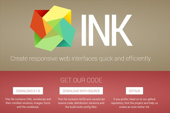 responsive web interface kit html