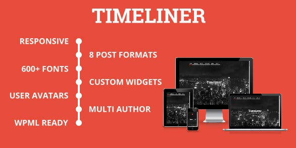 responsive website timeline blogging wp theme click