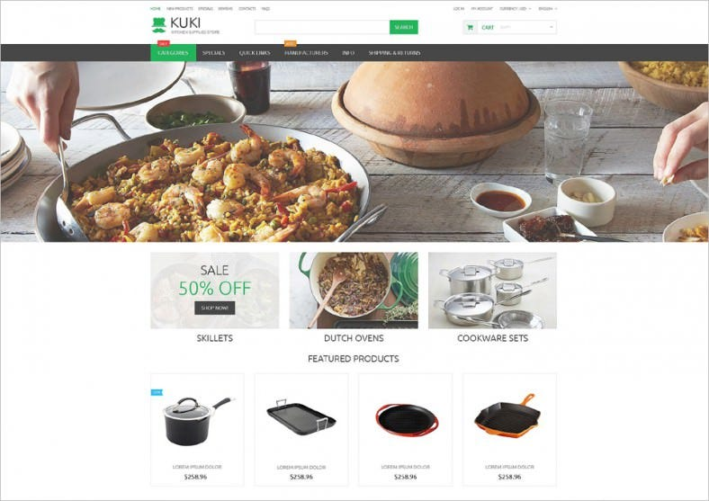 Responsive ZenCart Template for Home Needs
