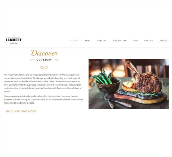 restaurant php bar themes