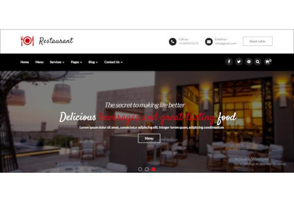 restaurant responsive joomla template