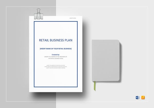 Retail business plan template 13 free word excel pdf format retail business plan template wajeb Image collections