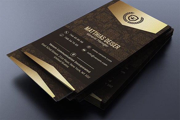 retro business name card psd template