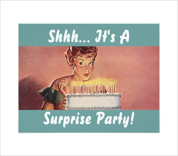 17 Outstanding Surprise Party Invitations Designs Free