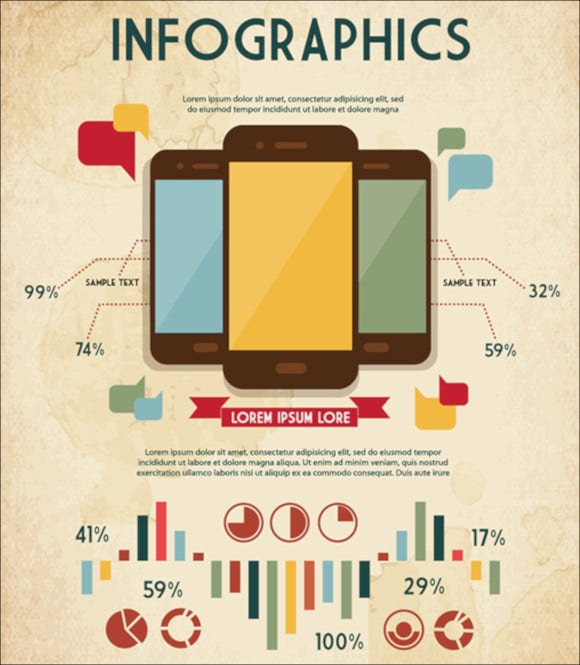 retro vintage infographic elements download