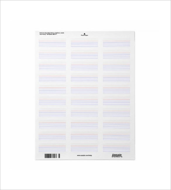 return address index card template 2