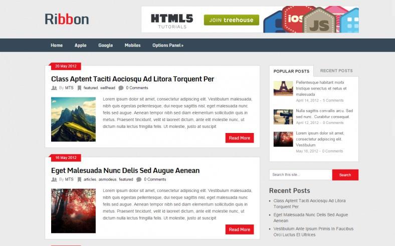 Free Responsive HTML5 Magazine Theme