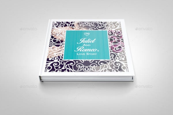 romantic wedding square photo album