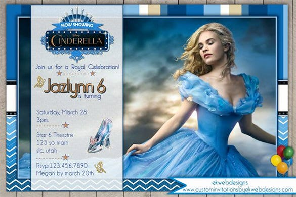 13 Amazing Cinderella Invitation Templates Designs Free