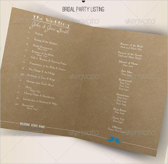 Event program templates indesign tutorials neonmontreal for Indesign wedding program template