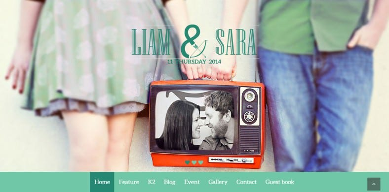 SEO Friendly Joomla Wedding Template