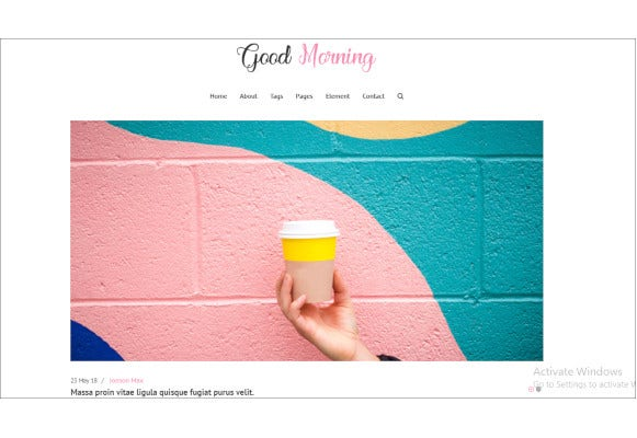 seo friendly minimal blog site template