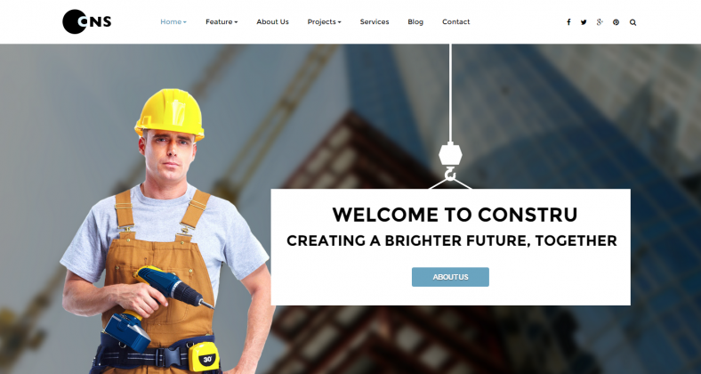 SEO Optimization Joomla Template for Construction