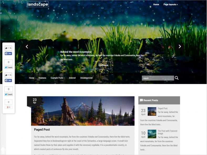 SEO Optimization WordPress Template
