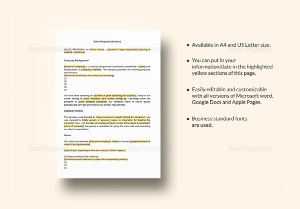 sales proposal template download