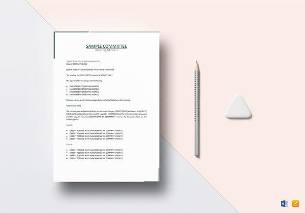 sample-committee-meeting-minutes-template