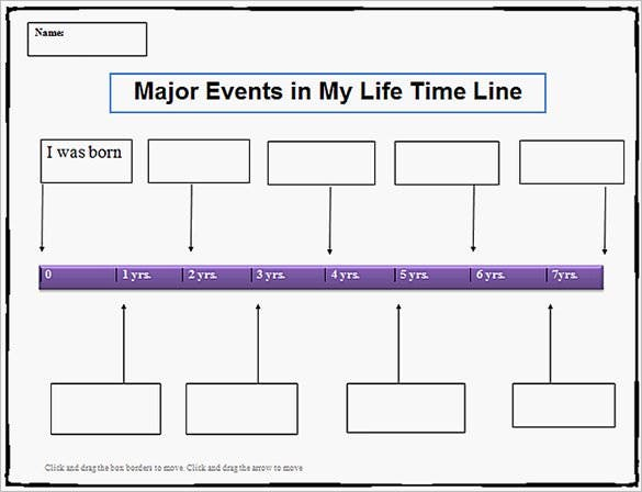 sample editable personal my life timeline template free word