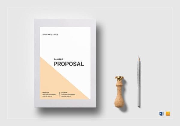 sample editable proposal template in word