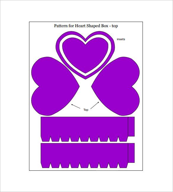 sample heart shaped gift box
