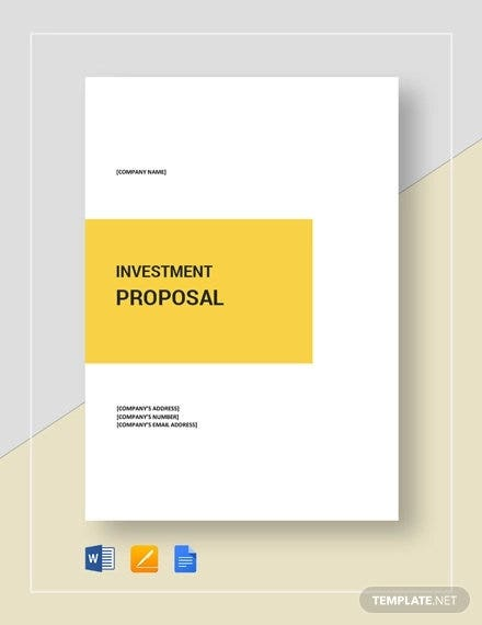 sample investment proposal template2