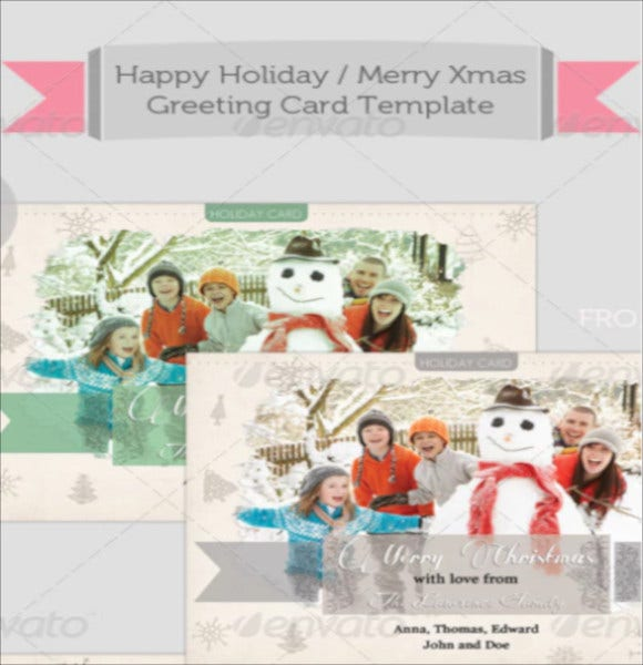 sample merry christmas holiday card template download