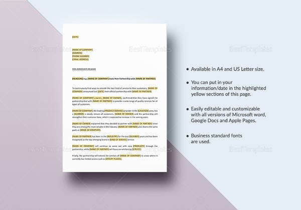 sample-press-release-new-partnership-collaboration-template