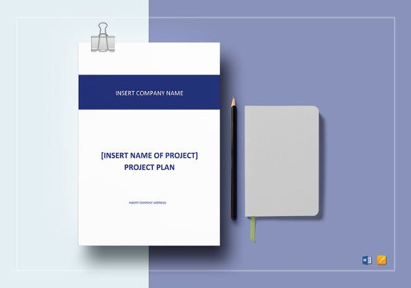 sample project plan word template