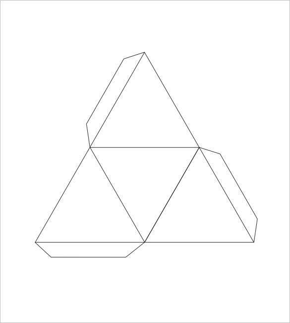 Triangle Box Template  BesikEightyCo